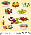 italian food cuisine 44792268