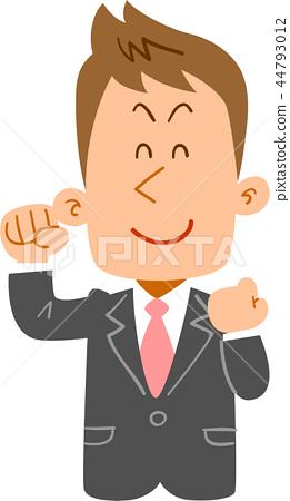 富有的微笑的年輕企業man_upper身體 44793012