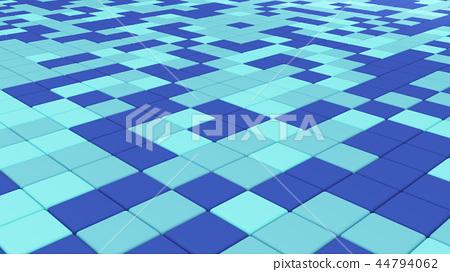 Blue tile flooring, architecture pattern texture background, 3d 44794062