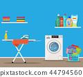Laundry room with washing machine, 44794560