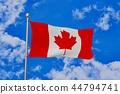펄럭이는 캐나다 국기 44794741
