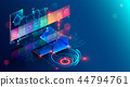 Smart home abstract background. Smartphone app of automation internet of things of intellectual 44794761
