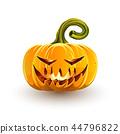 Glowing sinister Halloween pumpkin 44796822