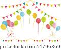 水彩風格氣球和花環 44796869