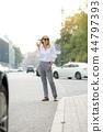 Portrait of beautiful business woman 44797393