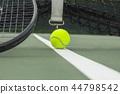 Tennis ball at tennis court 44798542