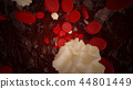 Lymphocytes And Red Blood Cells Flowing  44801449