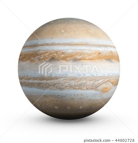 3D Rendering Planet Jupiter isolated on white 44802728