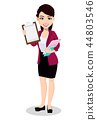 Asian business woman in office clothes 44803546