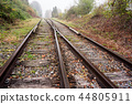 railway in the forest 44805911