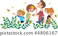가족 蛍狩り 44806167