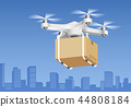 Drone delivery service technology. Vector 44808184
