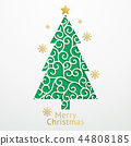 Christmas balls background paper cut style.  44808185