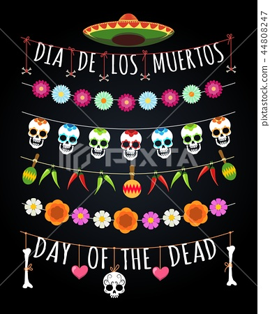 Mexican dead day garlands 44808247