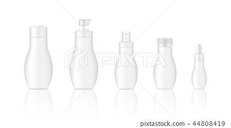 Mock up Realistic White Spray, Dropper Bottles 44808419