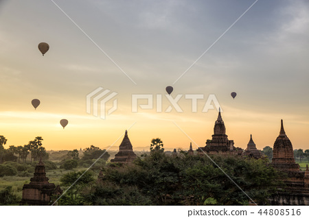 景觀與蒲甘的日出和佛教遺址 44808516