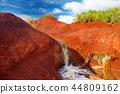 Famous red dirt of Waimea Canyon in Kauai 44809162