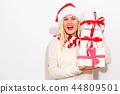 woman, christmas, gift 44809501