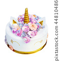 cake in the form of a unicorn 44810486