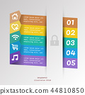 Time line infographic business design with icon 44810850