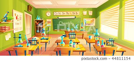cartoon illustration of school classroom 44811154