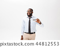 Headshot of successful smiling cheerful african american businessman executive stylish company 44812553
