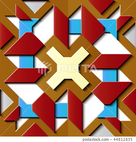 Seamless relief sculpture decoration pattern 44812835