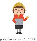 소녀의 일러스트. 가을이나 겨울 추운 날에 대비 한 패션을하고있다. 44822432