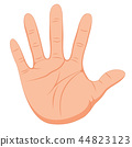 hand gesture with smooth skin 44823123