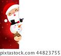 Christmas Santa claus cartoon smile  44823755