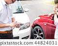 Teenage Driver Making Phone Calling to report car help assistanc 44824031