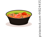 Tom Yam Kung spicy soup, Thai cuisine vector Illustration on a white background 44824435