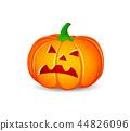 Pumpkin on white background.  44826096