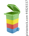 Colorful recycle bin isolated on white background  44826337