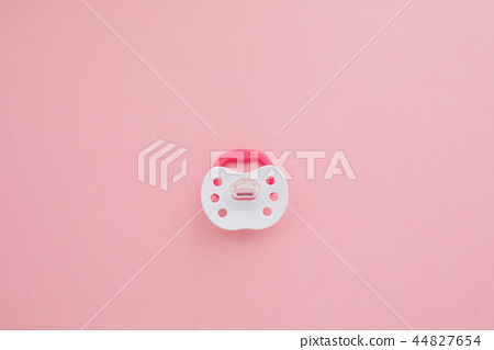 Baby silicone pacifier in pink color 44827654