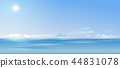 Background cloudy landscape over the sea and 44831078