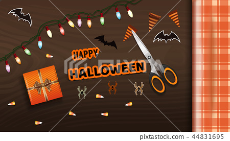 Preparing for the celebration of Halloween 44831695