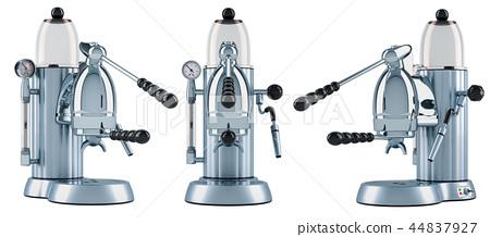Manual coffeemaker or coffee machine retro design 44837927
