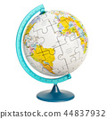 Geographical globe of planet Earth from puzzle 44837932