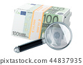 Euro packs with magnifying glass 44837935