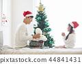 聖誕節,爸爸,女兒,家庭,韓國人 44841431