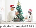 聖誕節,爸爸,女兒,家庭,韓國人 44841433