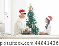 聖誕節,爸爸,女兒,家庭,韓國人 44841436