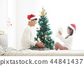 聖誕節,爸爸,女兒,家庭,韓國人 44841437