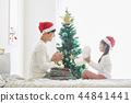 聖誕節,爸爸,女兒,家庭,韓國人 44841441