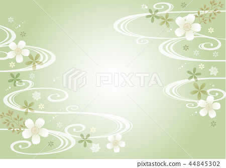 Light green Japanese pattern horizontal 44845302