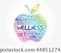 wellness word apple 44851274