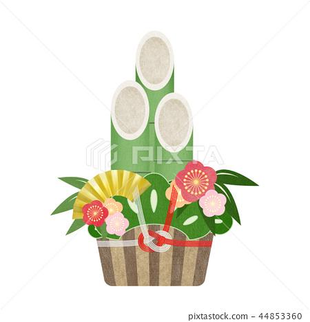 일본 - 일본식 - 일본식 디자인 - 종이 - 소나무 장식 - 정월 44853360