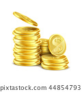 coin, gold, stack 44854793