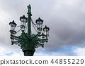 Street lamp and cloudy sky, Prague, Czech republic 44855229